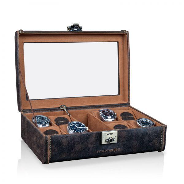 Uhrenbox mit Sichtfenster Cubano XL - Braun