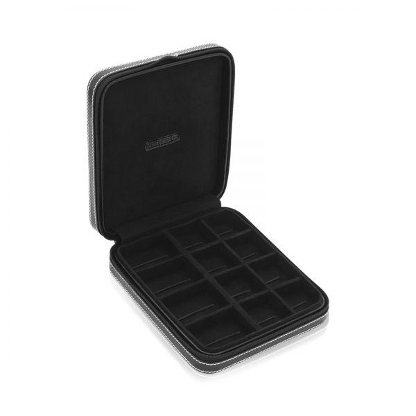 Manschetten- und Ringbox London mit elastischen Schlaufen - Schwarz