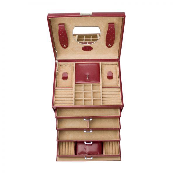 Jewelry Box Merino 13 - Red
