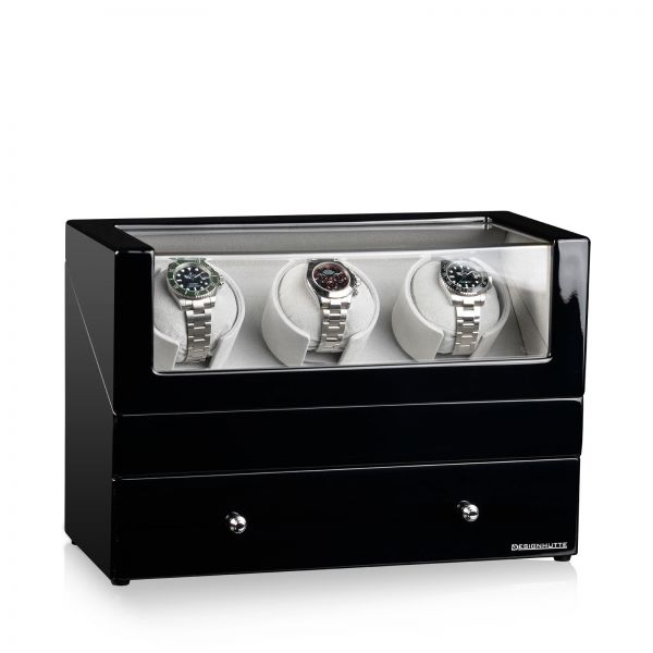 Watch Winder San Diego 3 - Black / Grey