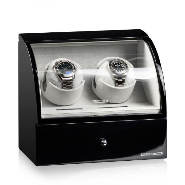 Watch Winder Basel 2 LCD - Black / Grey