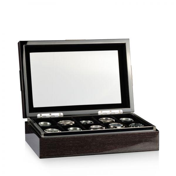 Caja De Reloj Executive 10 - Quercus / Negro