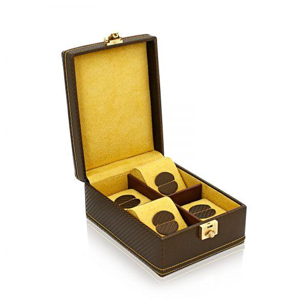 Caja de Relojes Carbon 4 - Amarillo