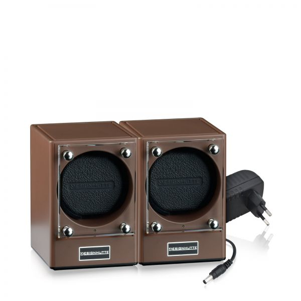 Watch Winder Piccolo Set of 2 - Chocolate
