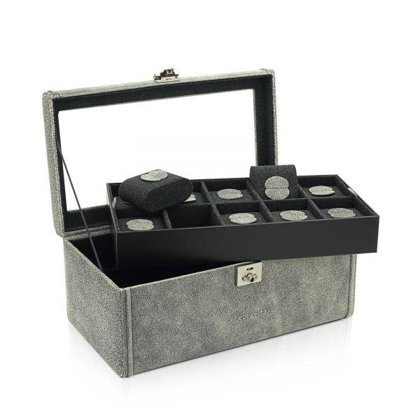 Uhrenbox mit Sichtfenster Cubano 20 - Grau
