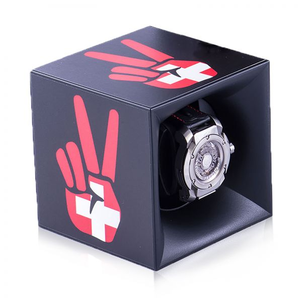 "Autocollant ""Peace and Love Swiss"" pour Swiss Kubik Starterbox"