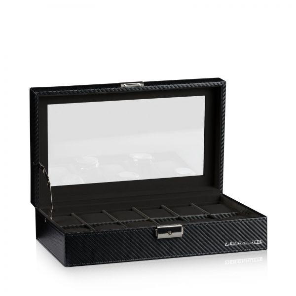 Watch Box Boston 12 - Carbon / Grey