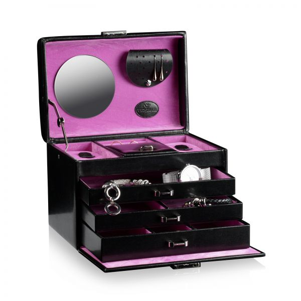 Boite a Bijoux Merino 9 - Noir