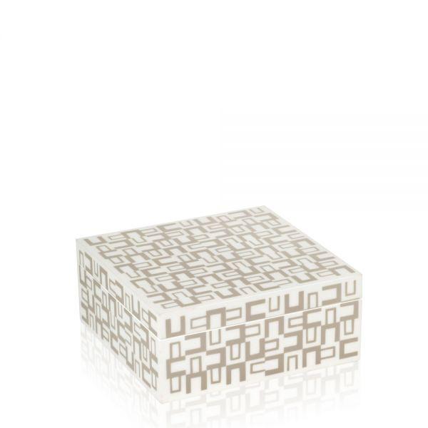 Schmuck- & Uhrenbox Moyo L - Weiß/Beige