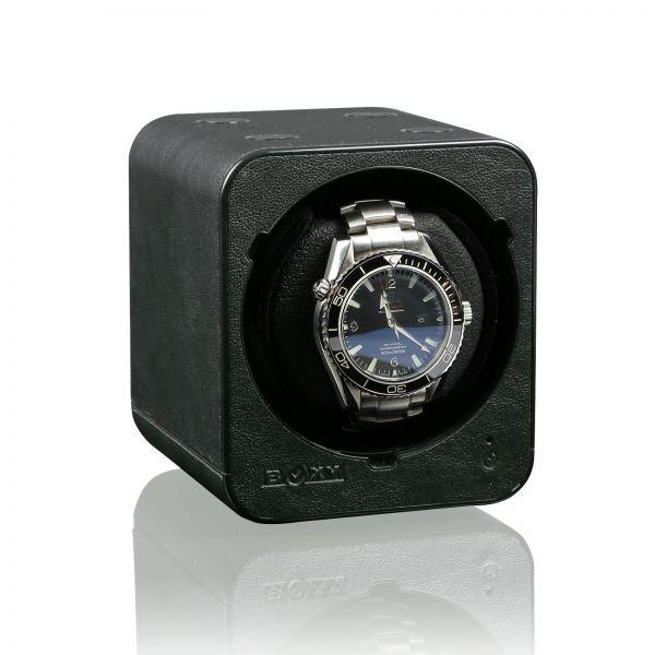 Uhrenbeweger Boxy Fancy Brick Schwarz Leder