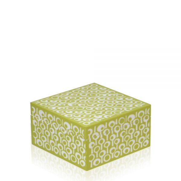 Jewelry & Watch Box Groovy M - Lime / White