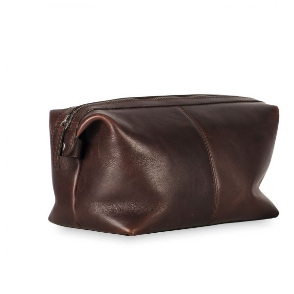 Roma Toiletry Bag - Brown