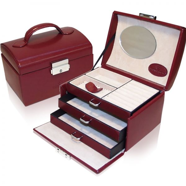 Jewelry Box Merino 10 - Red