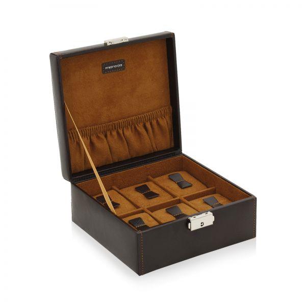 Uhrenbox Bond 6 - Dunkelbraun
