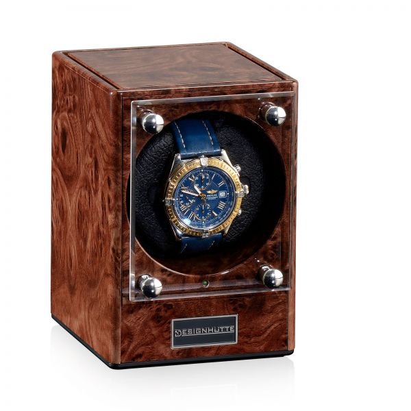 Watch Winder Piccolo - Burl Wood (without Power Supply)