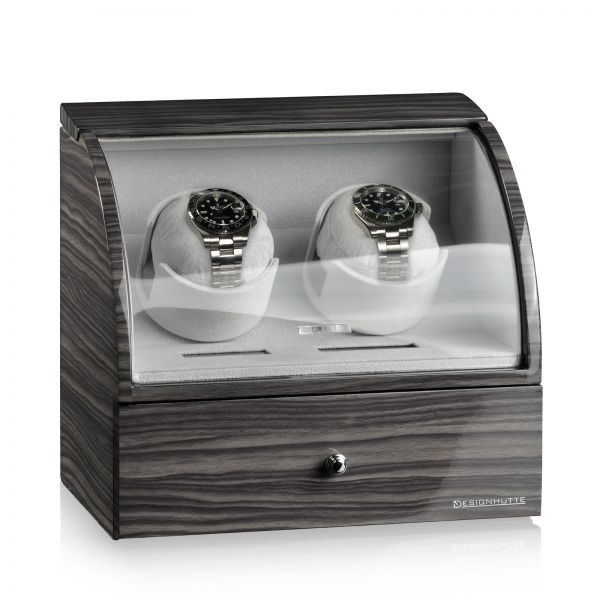 Uhrenbeweger Basel 2 LCD - Dark Oak