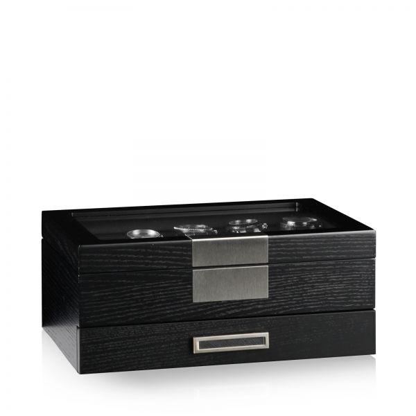 Caja de Reloj Monteray 10+ Ash - Negro Satin