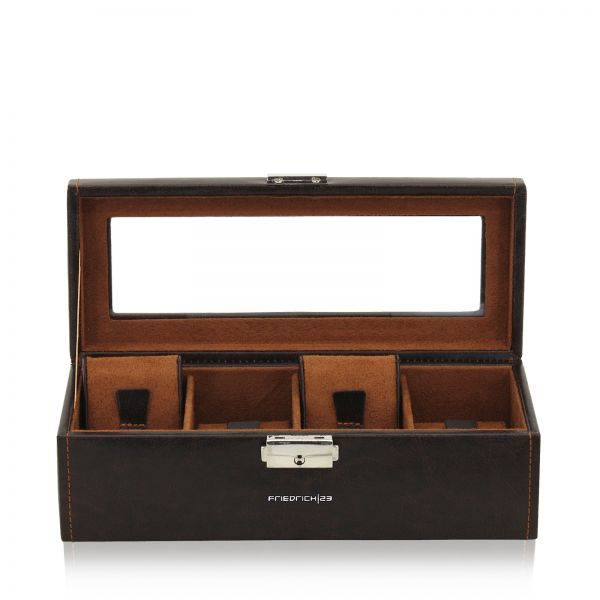 Watch Box with Window Bond 4 - Brown