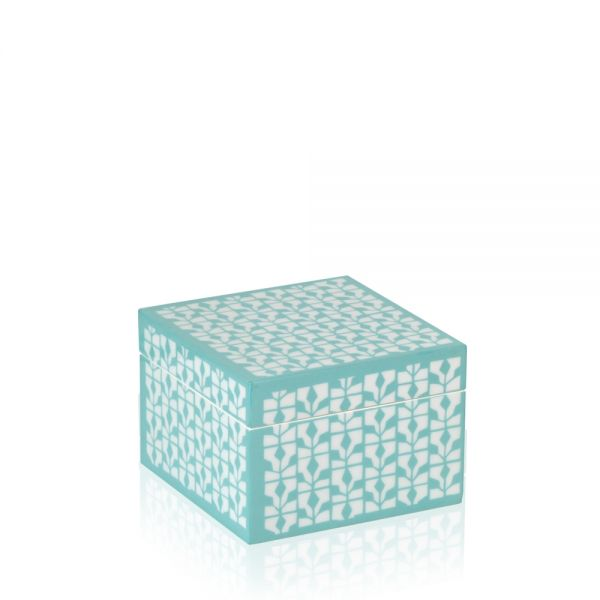 Jewelry & Watch Box Diva S - White/Turquoise