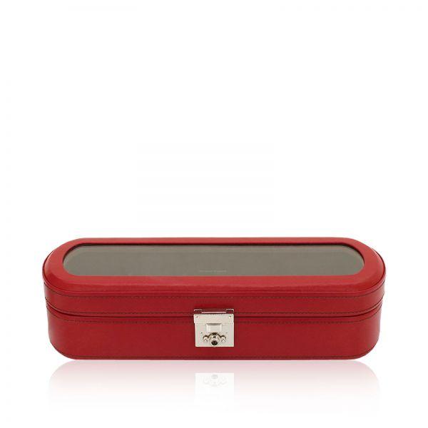 Uhrenbox Mit Sichtfenster Cordoba - Rot 5