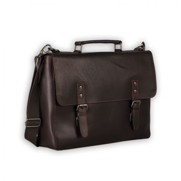 Dakota Briefcase 2 Compartments - Brown