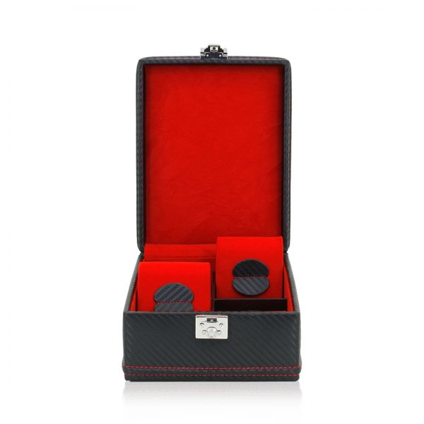 Uhrenbox Carbon 4 - Schwarz