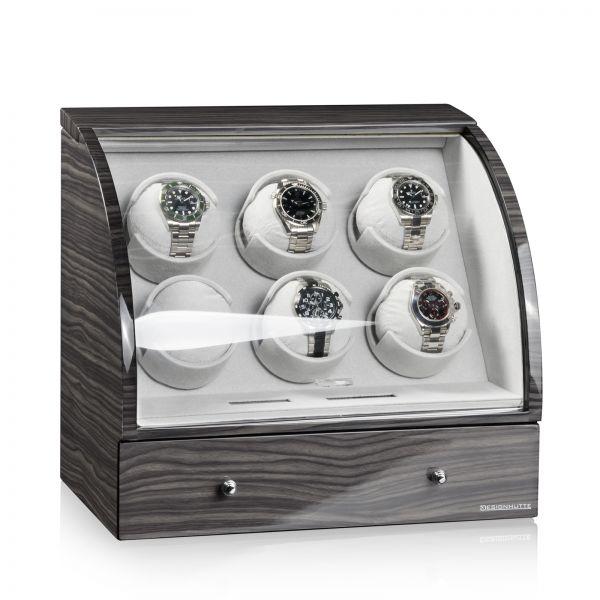 Vitrina de Movimiento para Relojes Automaticos Basel 6 LCD - Dark Oak