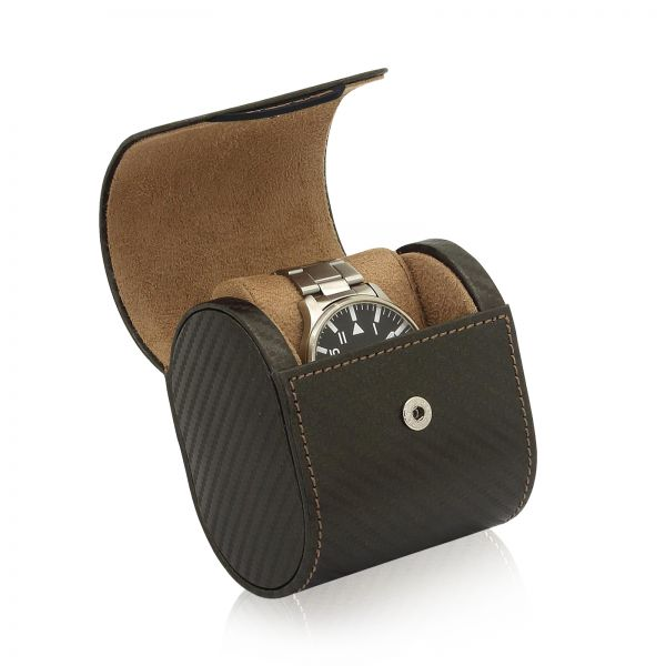 Uhrenbox Carbon 1 - Braun