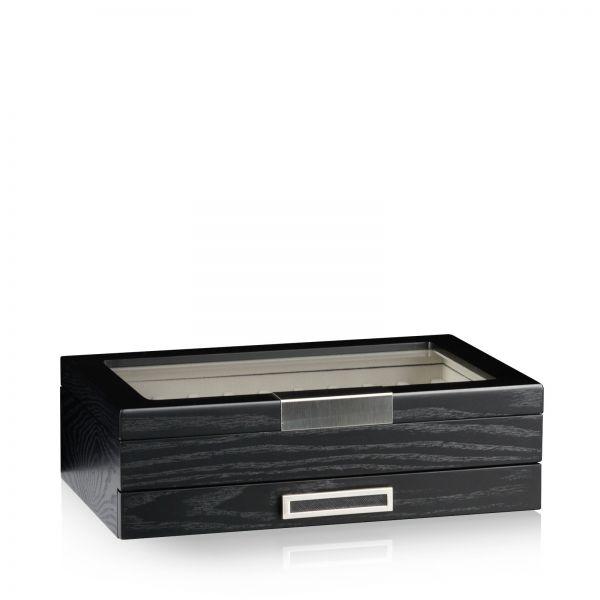 Boîte de rangement des Stylos Monteray 20 - Noir Cendre Satiné