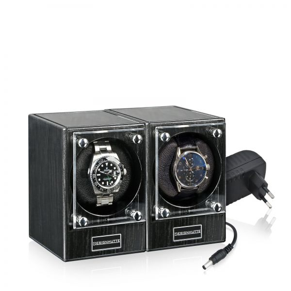 Vitrina de Movimiento para Relojes Automaticos Piccolo Set de 2 - Dark Ebony