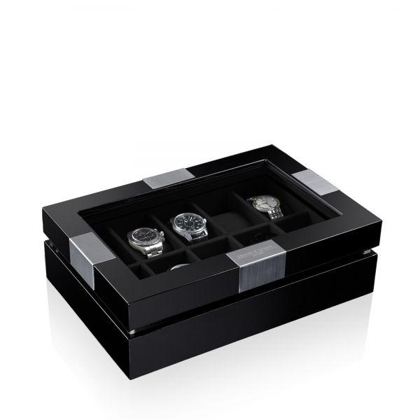 Caja De Reloj Executive 10 - Negro/Negro