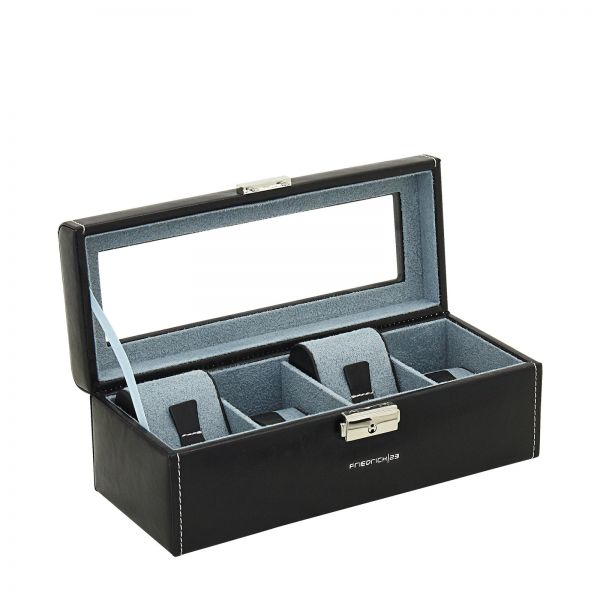 Watch Box with Window Bond 4 - Black