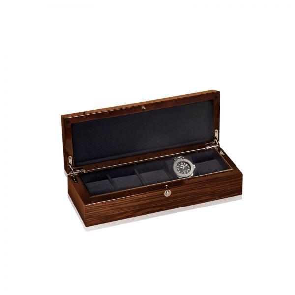 Uhrenbox Crystal 5 - Braun