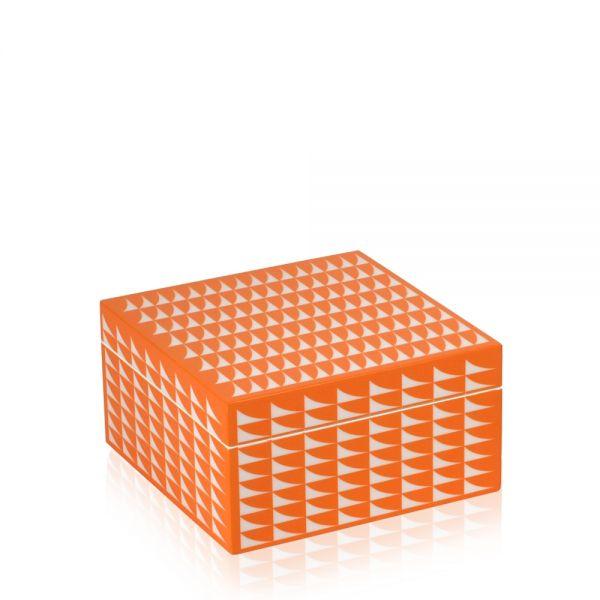 Schmuck- & Uhrenbox Fab M - Orange/Weiß