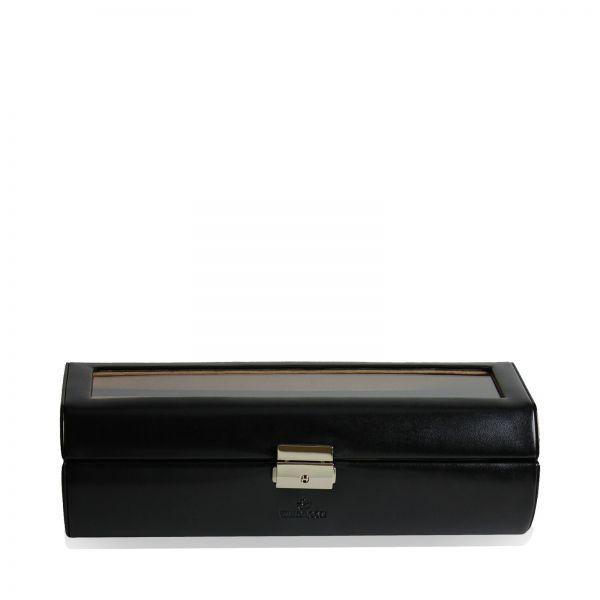 Boîte à Montre Merino 7 - Noir