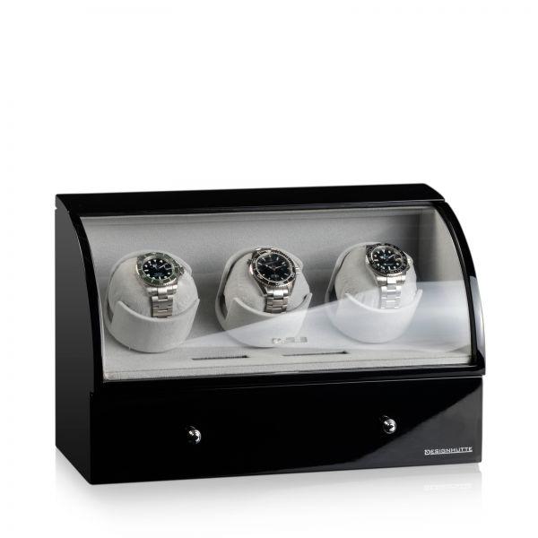 Uhrenbeweger Basel 3 LCD - Schwarz