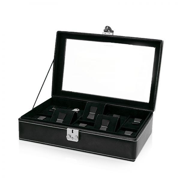 Caja De Reloj Con Ventanilla London 10 - Negro