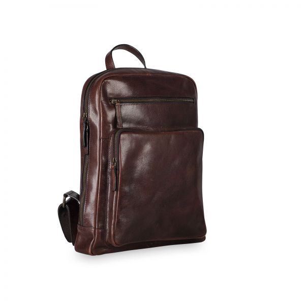 Cambridge Business Backpack - Red Brown
