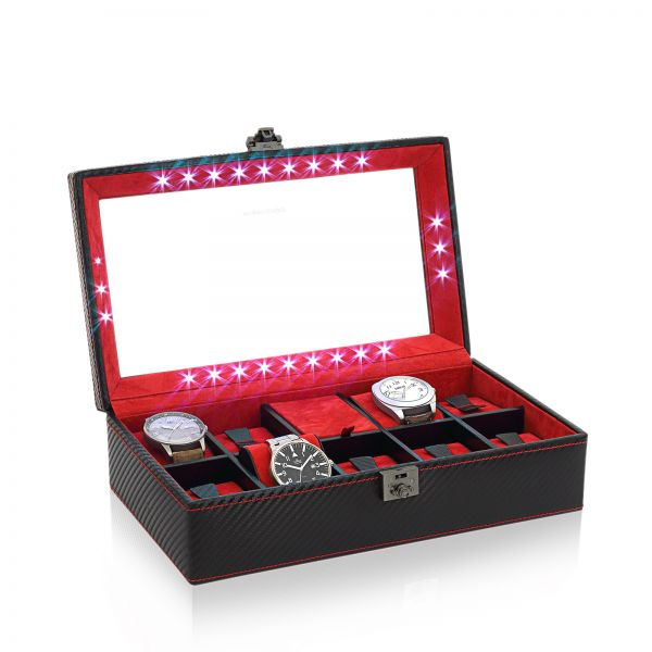 Uhrenkoffer Carbon M - Schwarz