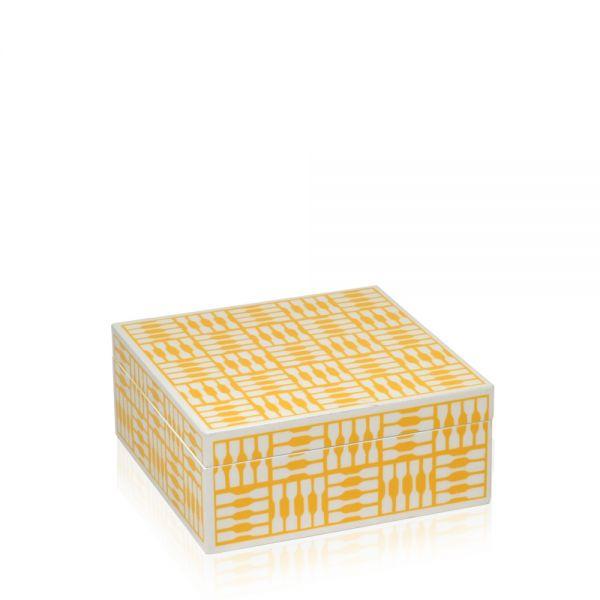 Schmuck- & Uhrenbox Foxy L - Weiß/Gelb