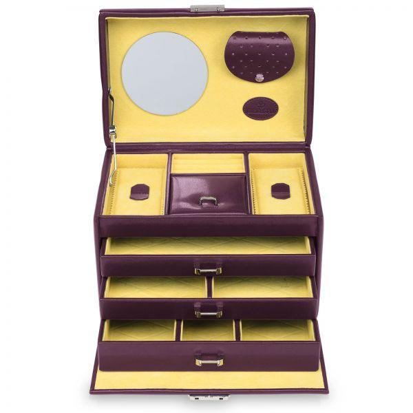 Jewelry Box Merino Moda - Aubergine L