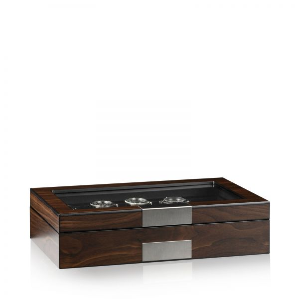 Uhrenbox Monteray 8+ Esche - Walnuss Seidenmatt