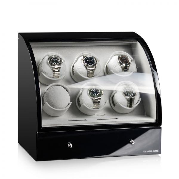Uhrenbeweger Basel 6 LCD - Schwarz