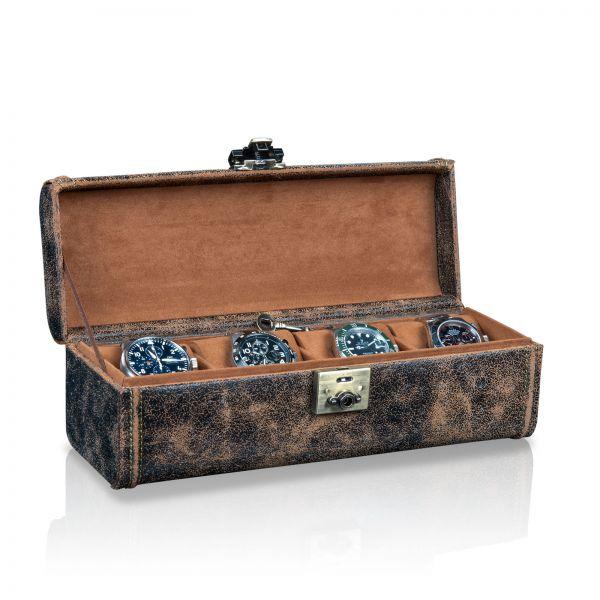 Uhrenbox Cubano 4 - Braun