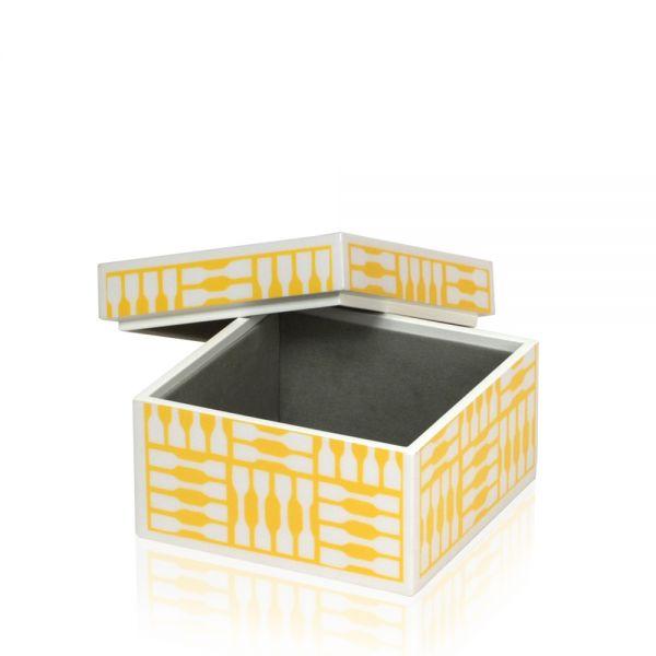 Schmuck- & Uhrenbox Foxy S - Weiß/Gelb