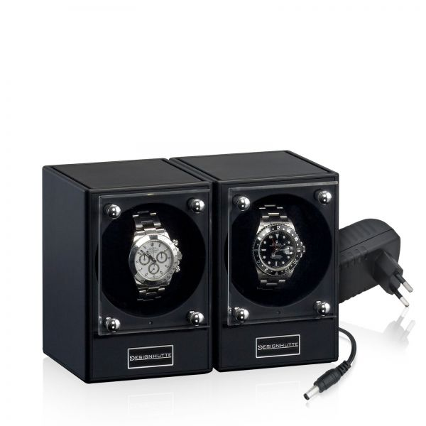 Watch Winder Piccolo Set of 2 - Black