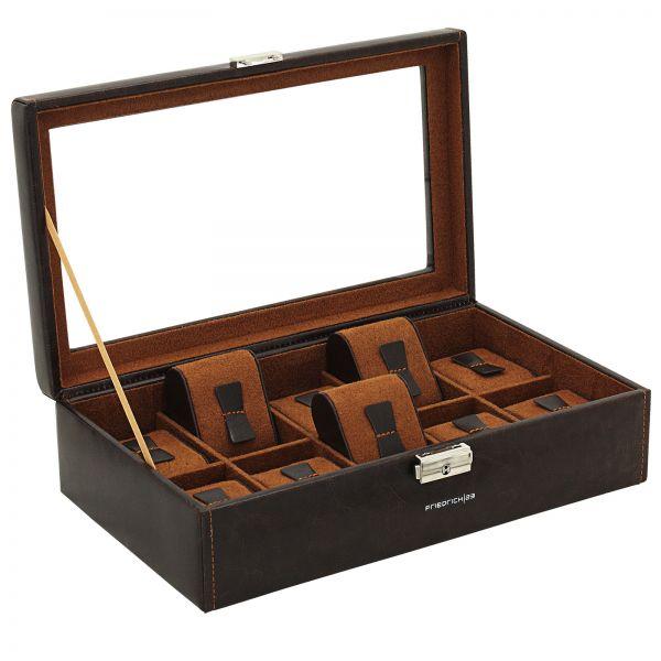 Uhrenbox mit Sichtfenster Bond 10 - Braun