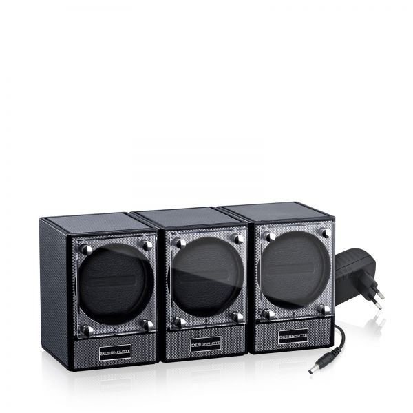 Watch Winder Piccolo Set of 3 - Carbon