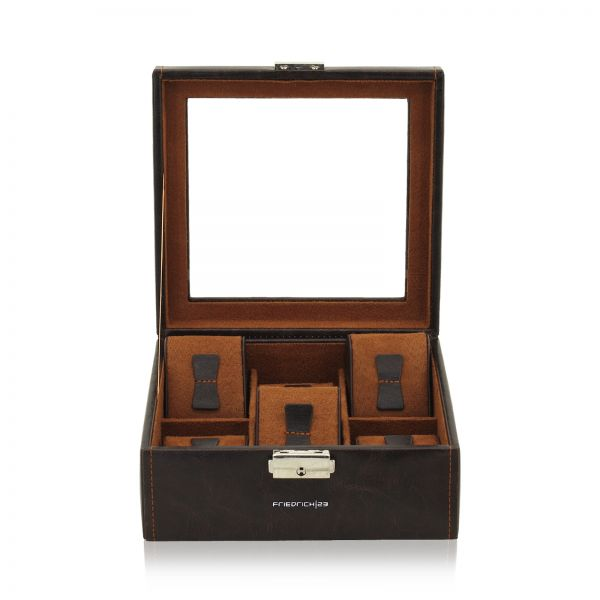 Watch Box with Window Bond 6 - Brown