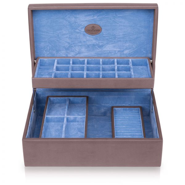 Charms- und Ringbox Merino Moda - Grau L
